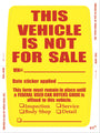 Not For Sale Sticker PLUS - US Auto Supplies