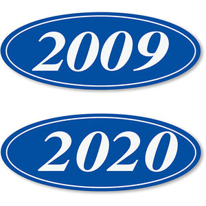 Windshield Model Year Stickers-Blue-White | US Auto Supplies