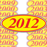 Year Stickers In Red And Yellow | US Auto Supplies