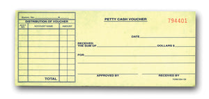 Automotive Dealer Supplies I Petty Cash Vouchers