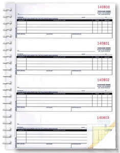 Purchase Order Books 2 Part | US Auto Supplies