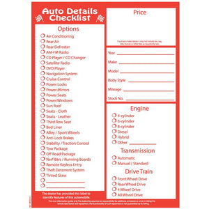 Auto Dealer Window Stickers
