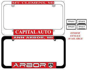 Reflective Tape Plate Frames - US Auto Supplies