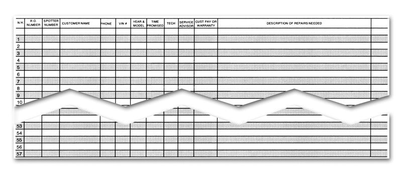 Dealer Supply I Appointment Record / Route Sheet - US Auto Supplies