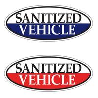 Vehicle Sanitized Windshield Stickers | US Auto Supplie