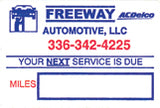 Car Service Reminder Stickers | US Auto Supplies