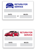 Oil Service Stickers | US Auto Supplies