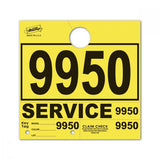 Yellow Service Hang Tags | US Auto Supplies