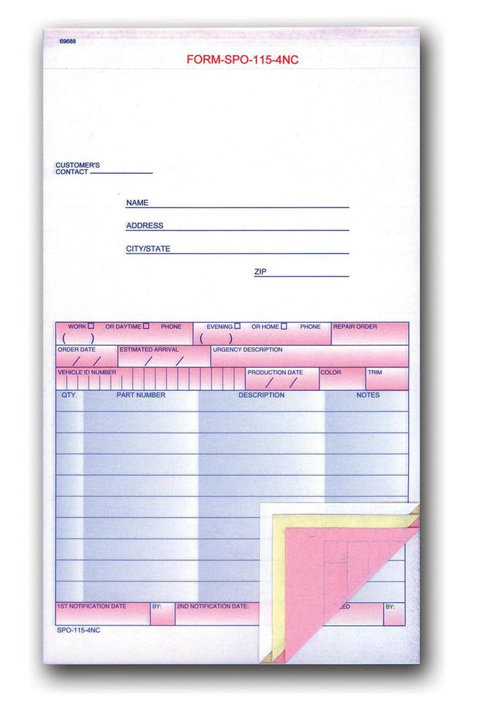 car service supplies I parts order forms from US Auto Supplies