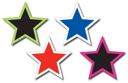 car dealership supplies I windshield star decal stickers
