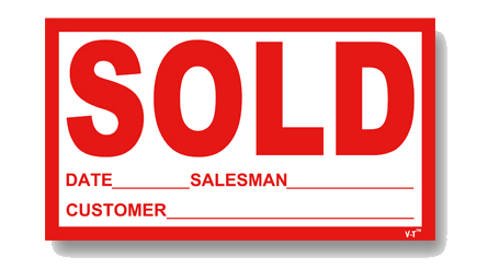 Car Dealer I Windshield Sold Stickers - US Auto Supplies