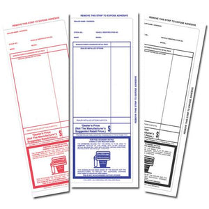 Dealer Addendum Stickers - US Auto Supplies