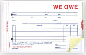 We Owe Forms | US Auto Supplies