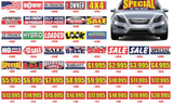 Car Windshield Banners | US Auto Supplies