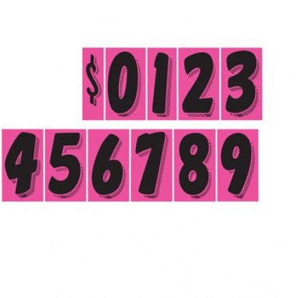 Pink & Black Windshield Digits - US Auto Supplies