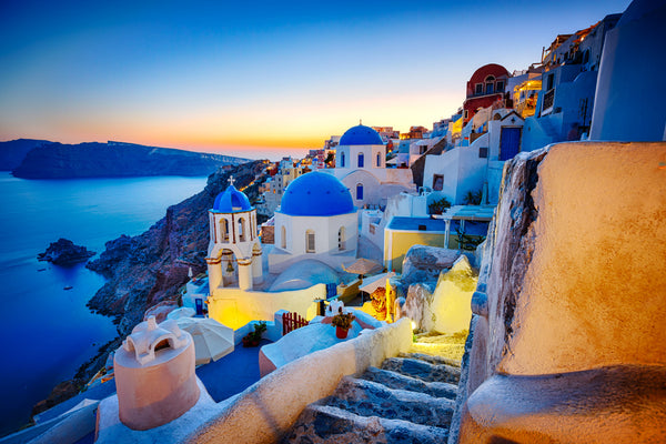 Blue Roofs, Santorini, Greece