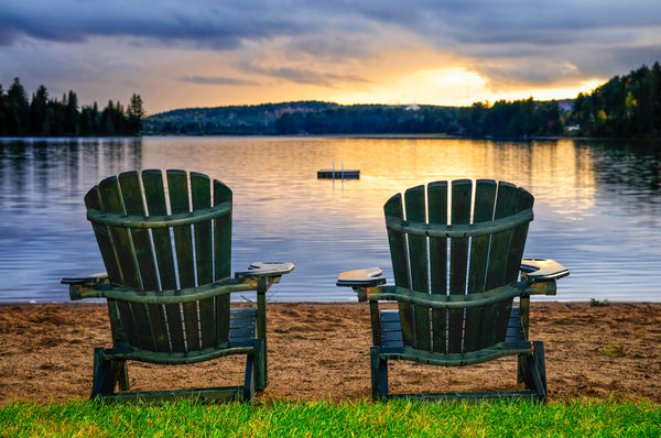 LAKE PIER WITH TWO CHAIRS 2