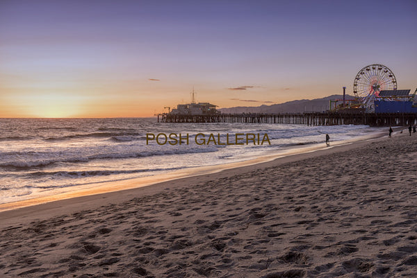 Santa Monica BEACH Golden Sunset