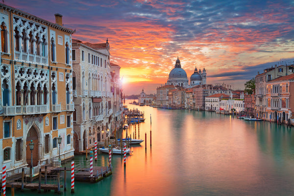 Grand Canal Sunset, Salute Basilica, Venice, Italy