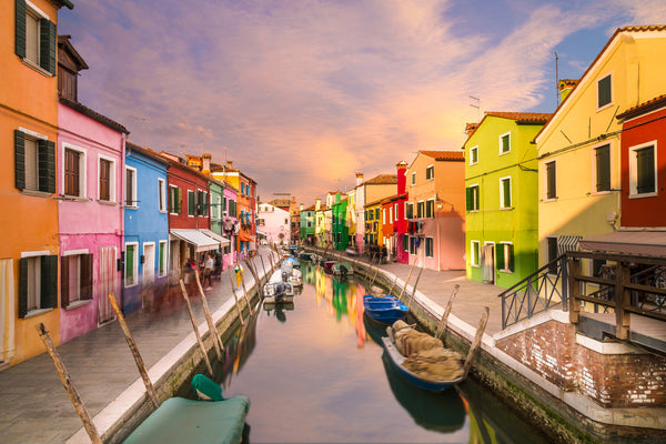 Canal and Boats, Burano, Italy