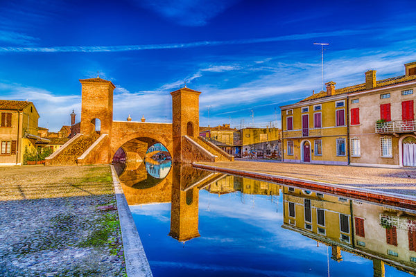 TREPPONTI BRIDGE IN COMACCHIO IN EMILIA ROMAGNA