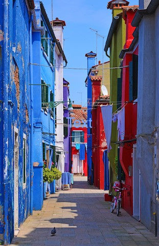 Colored Homes, Burano, Italy