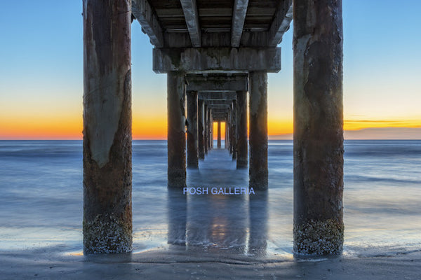 ST. AUGUSTINE BEACH PIER SUNSET, FLORIDA