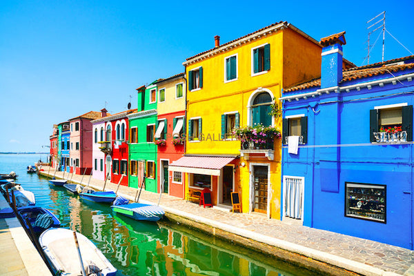 Colorful Canal Houses, Burano, Italy