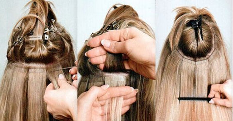 How to install tape-in hair extensions