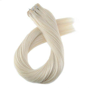 ProLuxe Remy Collection: Tape-In Extensions Color Pale Ash Blonde #60 20 inches in length