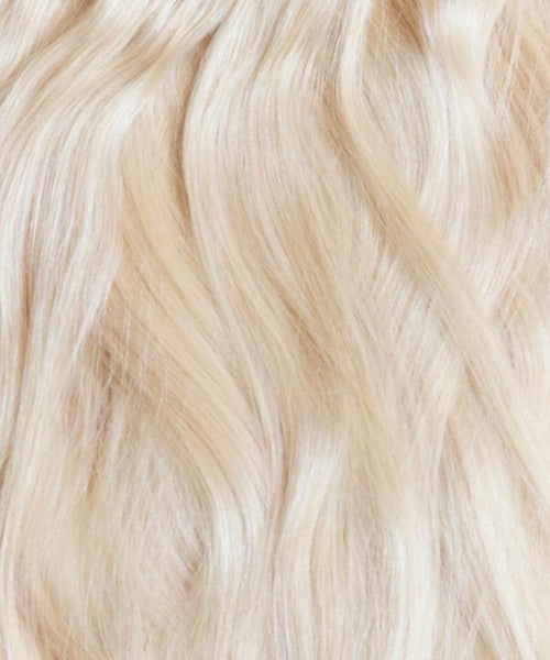 Pale Ash Blonde Clip-In Hair Extensions- 20 inches / 200 gram full head set of 100% Remy clip-in human hair extensions
