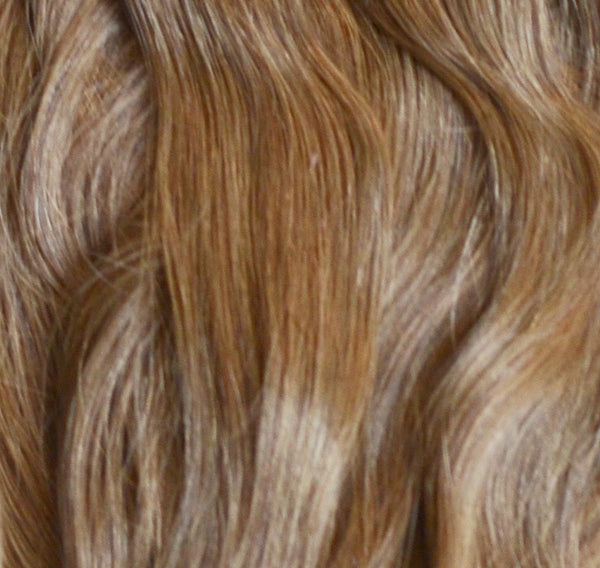 ProLuxe Remy Collection: Tape-In Extensions Color Medium Brown #8 22 inches in length