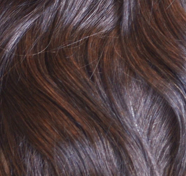 ProLuxe Remy Collection: Tape-In Extensions Color Dark Mocha #2 16 inches in length