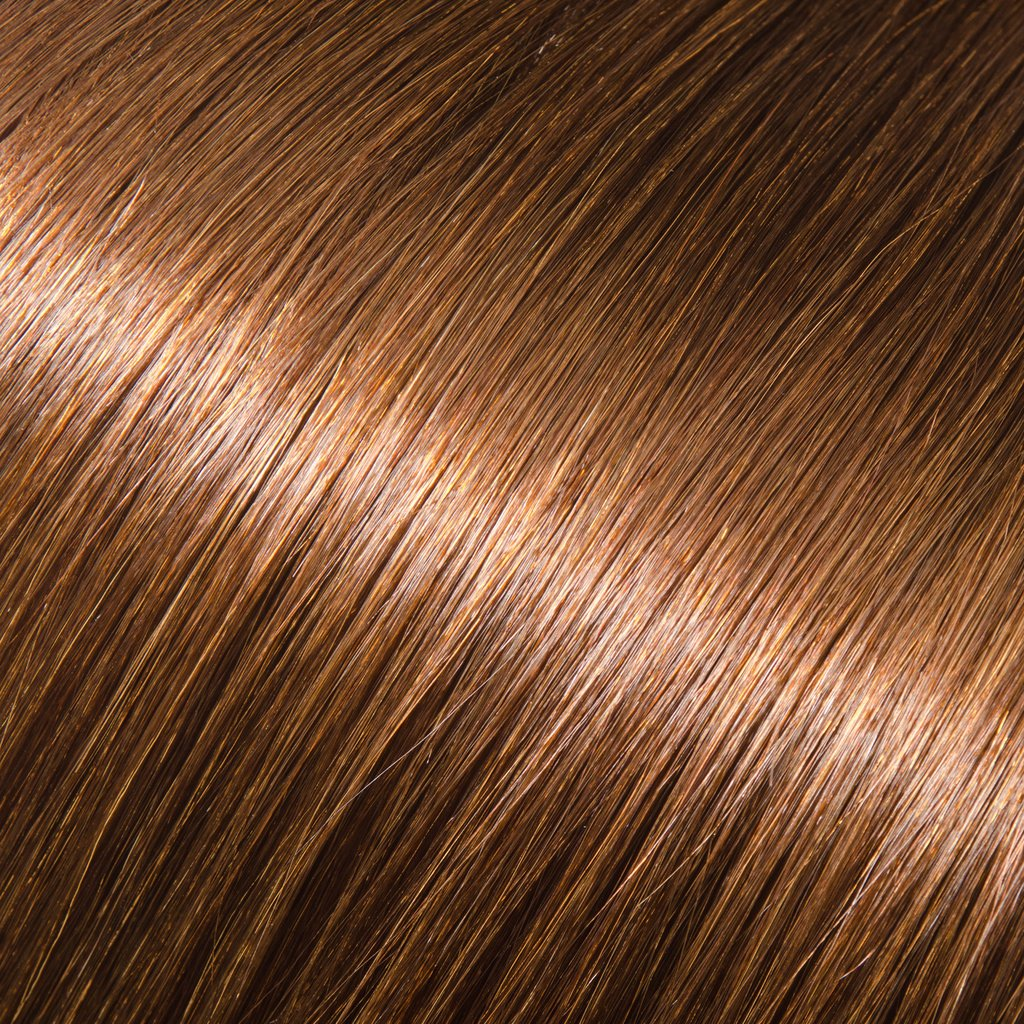 ProLuxe Remy Collection: Tape-In Extensions Color Chestnut Brown #6 22 inches in length