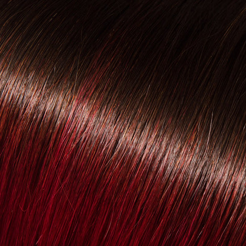 #1B into Burgundy (#99J) Remy Tape-In Hair Extension