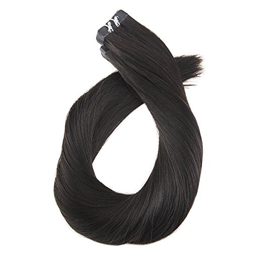 Soft Obsidian/Off-Black (#1B) Remy Tape-In Hair Extension