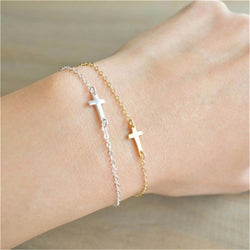 Delicate Tiny Cross Bracelet