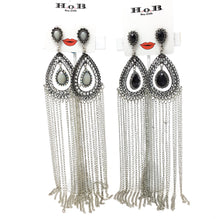 Long Chain Tassel Teardrop Earrings