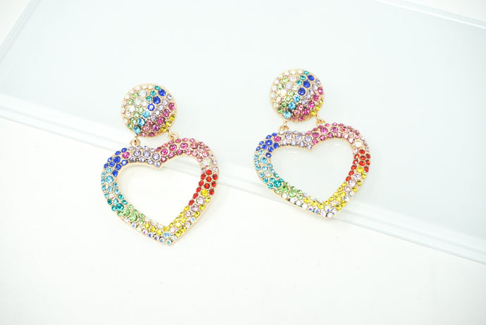 All of my heart stud earrings