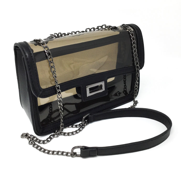 Transparent Black Purse