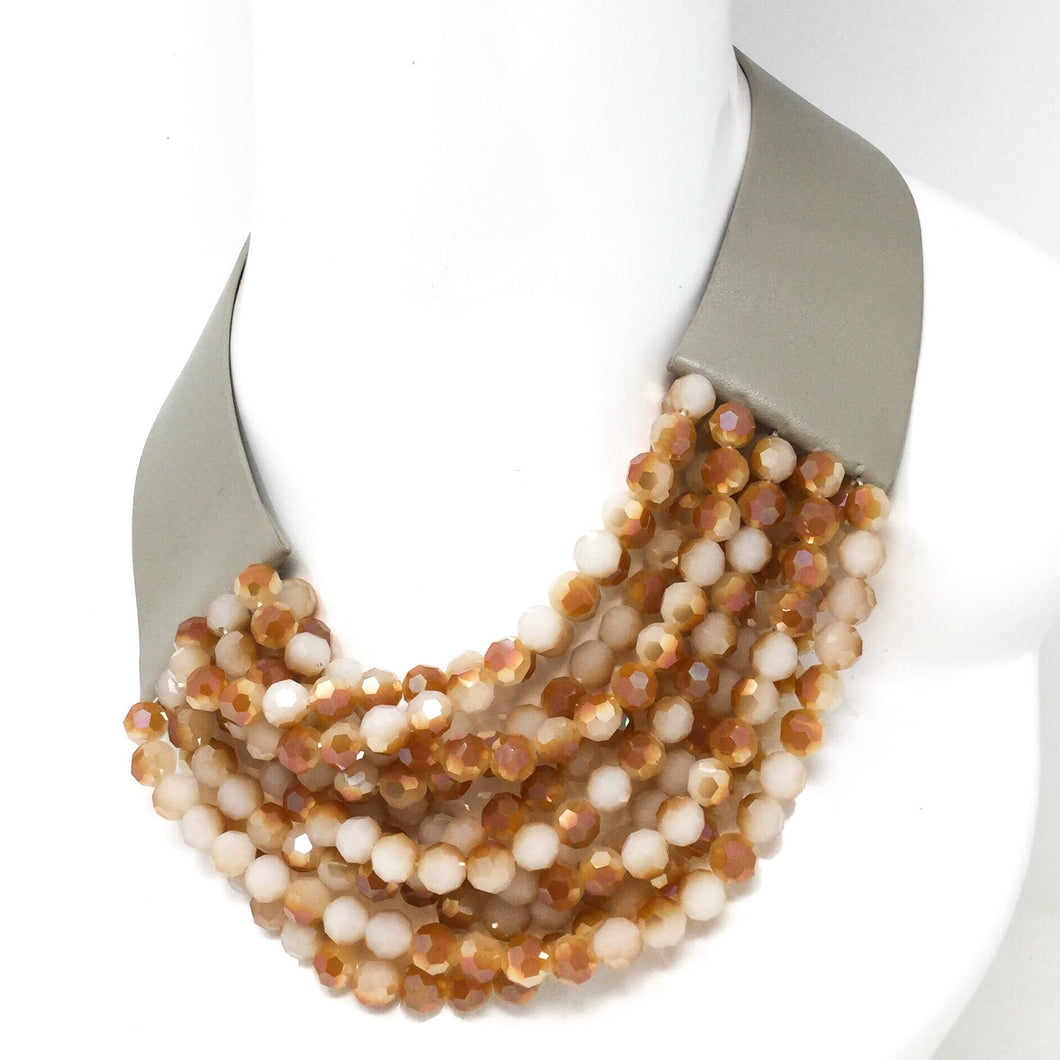 Leather and Beads Collar