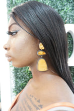 Amber Colored Earrings