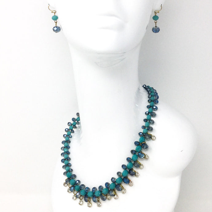 Aqua Sparkle Necklace Set