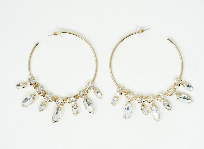 Dripping Gem Hoops