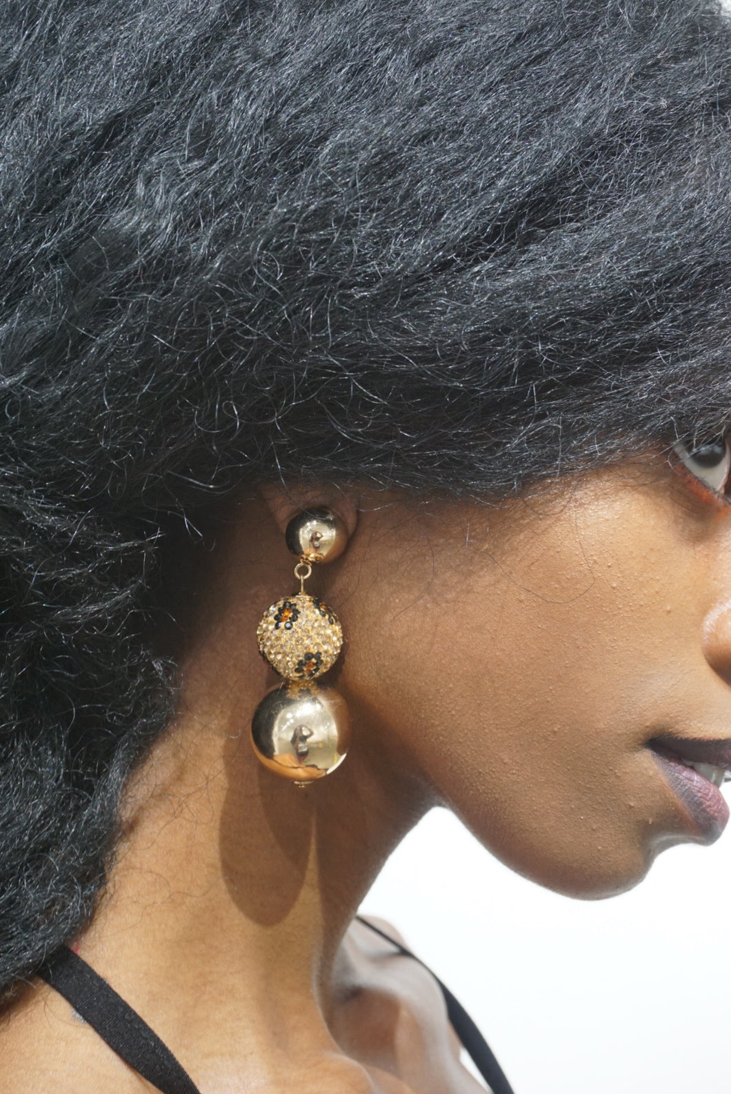 Leopard's Ball Earrings