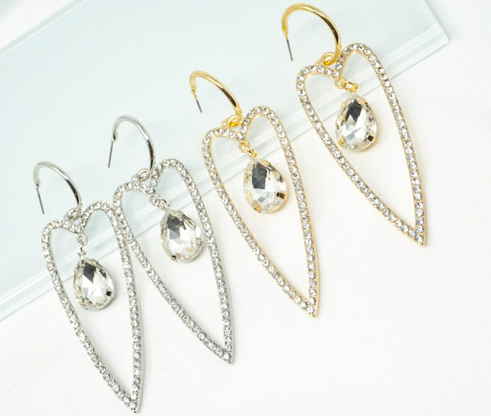 Pointed Hearts Earrings