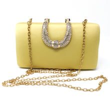 Yellow Satin Clutch