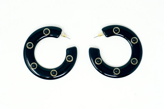 Seeing Spots Hoop Earrings