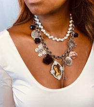 Pearl Charm Necklace with Portrait