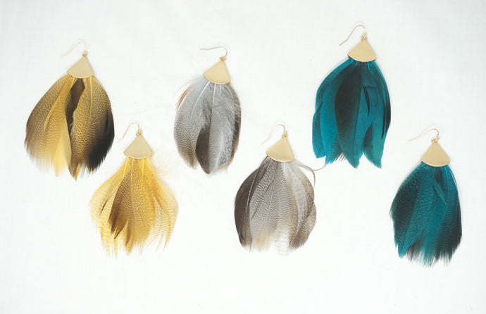 Fall Feather Earrings
